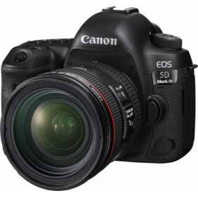 Canon - EOS 5D Mark IV DSLR Camera with 24-70mm f/4L IS USM Lens